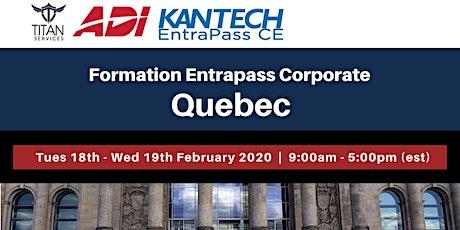 Formation Entrapass Corporate à Québec - ADI billets