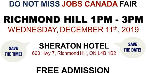 Richmond Hill Job Fair – December 11th, 2019