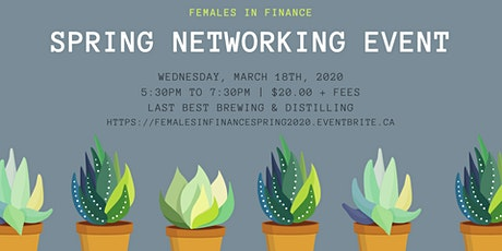 Females in Finance: Spring 2020 Networking Event tickets