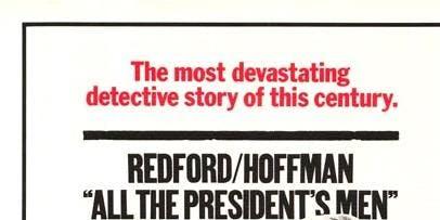 "Film Screening: ""All the President's Men"" Dustin Hoffman, Robert Redford"