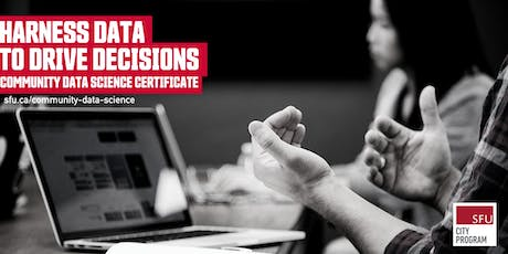 Community Data Science Certificate Info Session (Online) — May 21, 2020 tickets