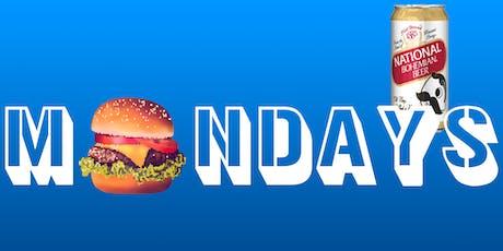 Burgers & Boh :: Mondays :: $1 Natty Boh tickets