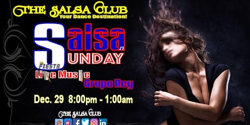 Salsa Sunday | Live Latin Music by Grupo Rey,  DJ Fiesta and more
