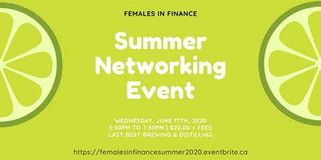 Females in Finance: Summer 2020 Networking Event tickets