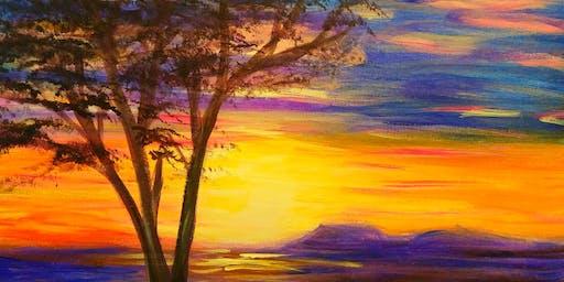 Paint Wine Denver Sunset Tree Thurs Nov 14th 6:30pm $35