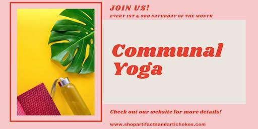 Communal Yoga + Refreshments & Food!