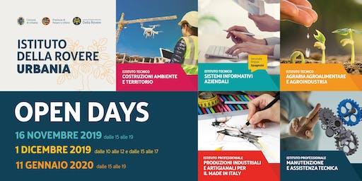 OPEN DAY - DOMENICA 1 DICEMBRE 2019