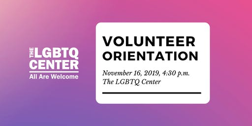 Volunteer Orientation, November 2019