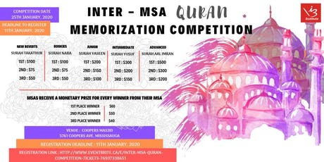 Inter - MSA  Quran Competition tickets