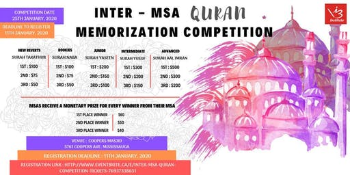 Inter - MSA  Quran Competition