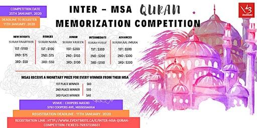 Inter - MSA  Quran Competition