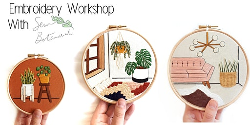 Botanical embroidery workshop with Sew Botanical