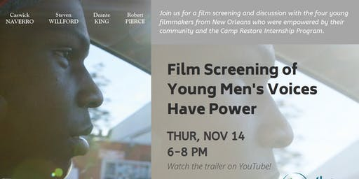 Film Screening of Young Men's Voices have Power