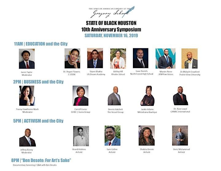 """STATE OF BLACK HOUSTON"" 10th Anniversary Symposium image"