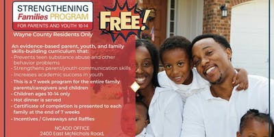NCADD PRESENTS STRENGTHENING FAMILIES PROGRAM  (PARENTS & YOUTH 10-14)