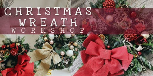 Contemporary Christmas wreath workshop with Floral & Lace