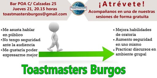 Sesión en castellano de Toastmasters Burgos - Liderazgo -Hablar en público