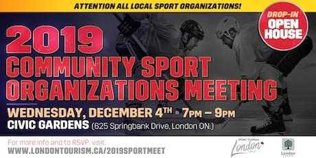 2019 Community Sport Organizations Meeting - Drop In Open House tickets