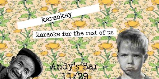 Karaoke w/ Johnny DuBiel @ Andy's Bar (Venue)