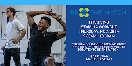 FITSGIVING: Donation-Based Stamina Workout 9:30AM tickets