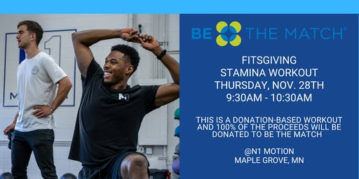 FITSGIVING: Donation-Based Stamina Workout 9:30AM