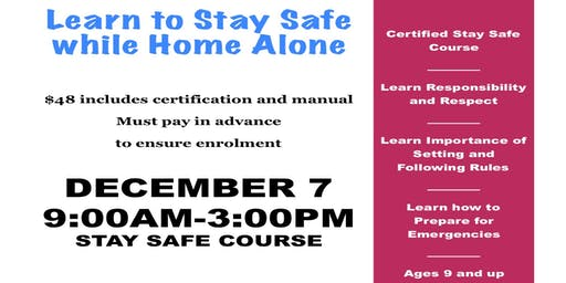 Strathmore Stay Safe/Home Alone Course