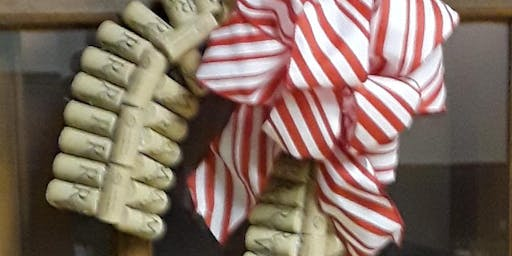 Christmas Cork Candy Cane Wreath Class at Ridgewood Winery