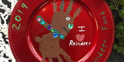 Personalized Kid's Reindeer Plate