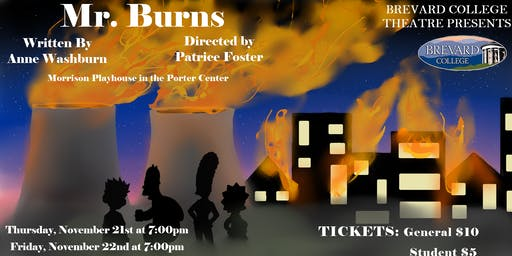 Mr. Burns, a Post Electric Play @ Brevard College 11.21