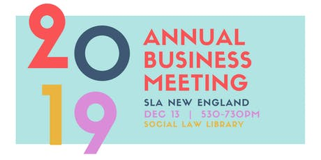 2019 Annual Business Meeting tickets