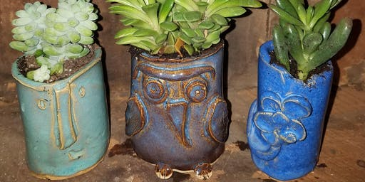 Succulent Planters made from Pottery!