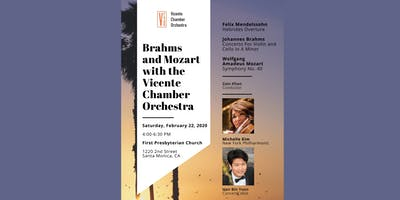 Brahms and Mozart with the Vicente Chamber Orchestra
