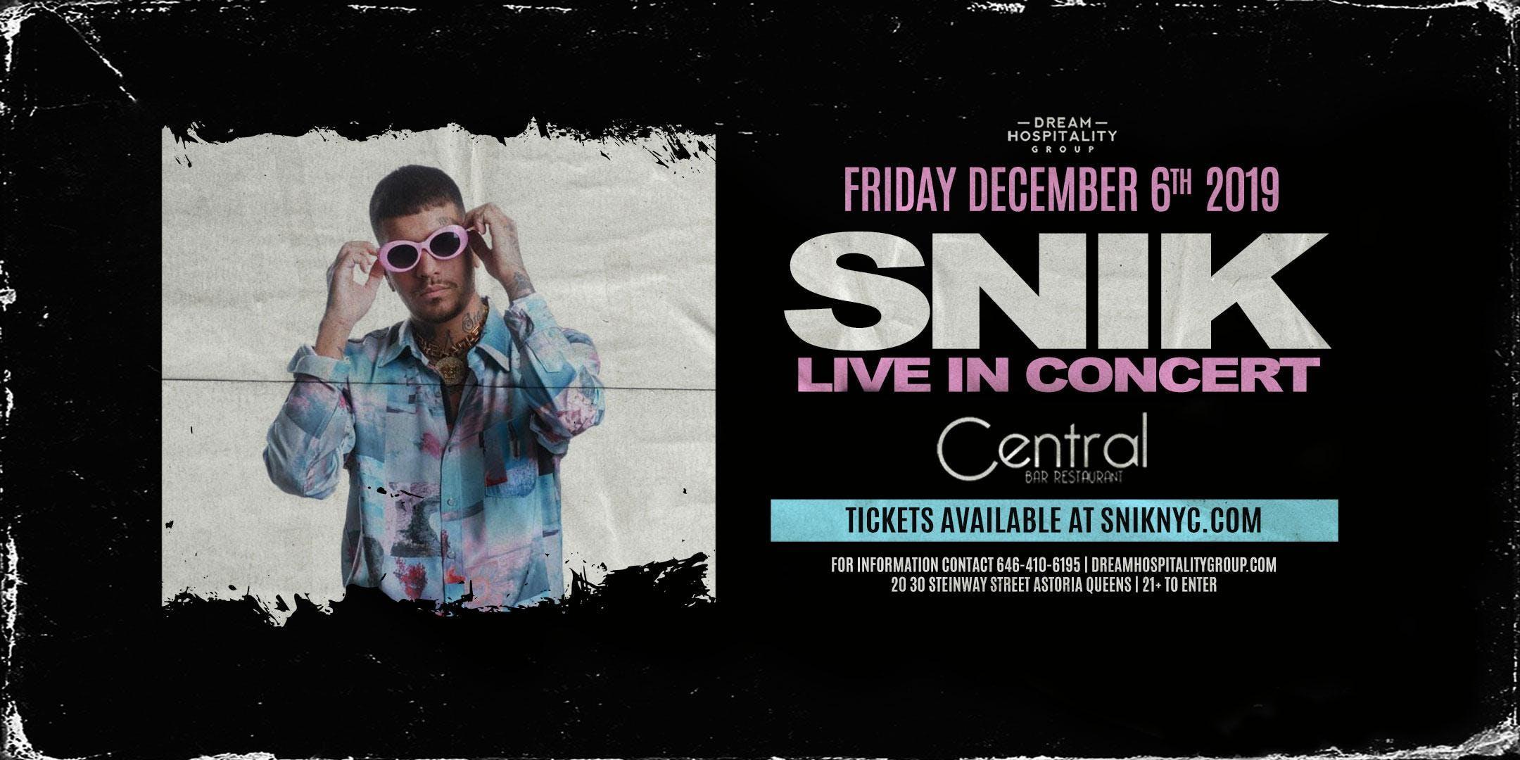 SNIK LIVE IN CONCERT DECEMBER 6