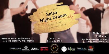 Salsa Night Dream - 2 Años Club RC boletos