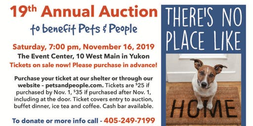Annual Dinner and Silent Auction to benefit Pets & People of Yukon