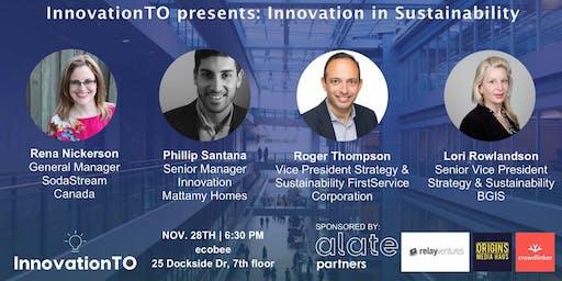 InnovationTO presents: Innovation in Sustainability
