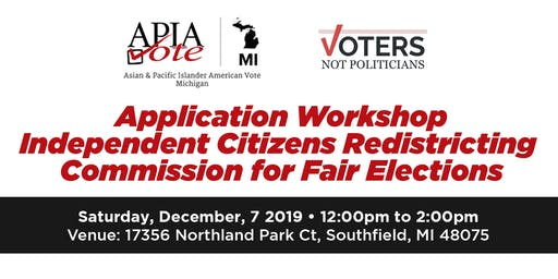Independent Citizen Redistricting Application Workshop