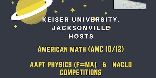 NACLO Olympiad, American Math & Physics Competition @ Keiser U. JAX