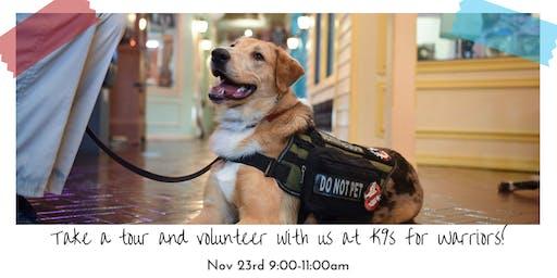 JYR November Community Service: K9s for Warriors!