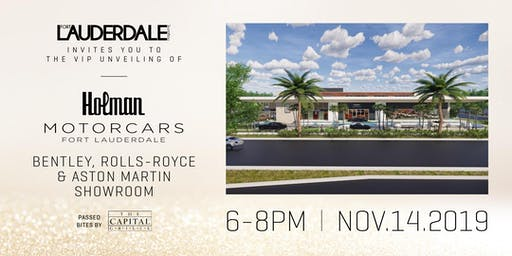 The VIP Unveiling of The Holman Motorcars Fort Lauderdale Showroom