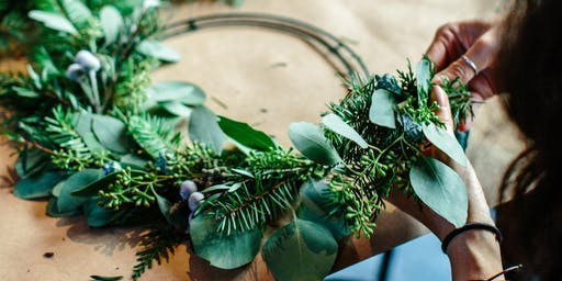 Wreath Making with A Natural Arrangement