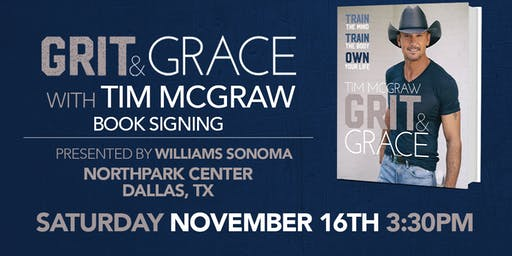 Tim McGraw GRIT & GRACE Book Signing Event at Williams Sonoma NorthPark!