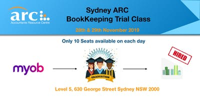 ARC Sydney MYOB Bookkeeping Trial Classes--Limited Seats Available
