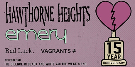 Hawthorne Heights & Emery 15th Anniversary Tour tickets