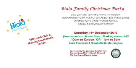 Biala Christmas Party - Saturday, 14th December 2019 tickets