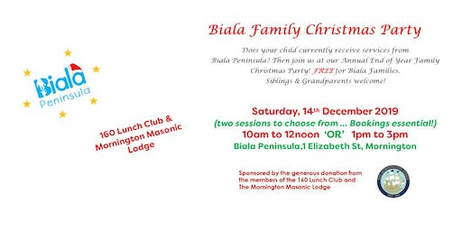 Biala Christmas Party - Saturday, 14th December 2019