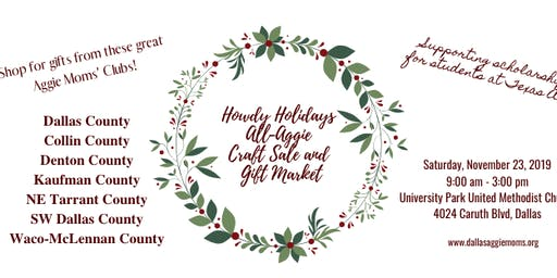 Howdy Holidays All-Aggie Gift Market and Craft Fair - 2019