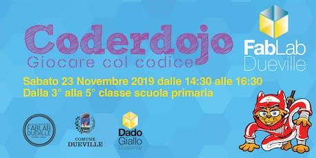 Coderdojo Dueville 23 Novembre 2019 biglietti