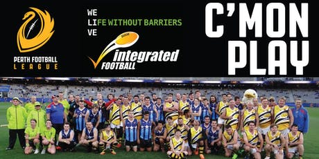 C'MON PLAY! Free Aussie Rules Football Clinic for People with Disability tickets