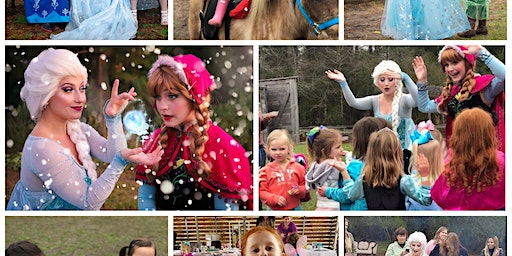 Anna and Elsa sing-a-long holiday party. Horse rides too!